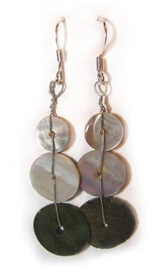Handmade Earrings #10 - Motherpearl Beads