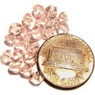 20 Pink Bicone Glass Beads