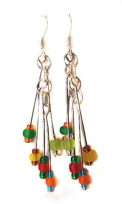 Handmade Earrings #11 - Multicolor Beads
