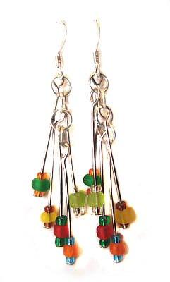 Handmade Earrings #11 - Multicolor Beads