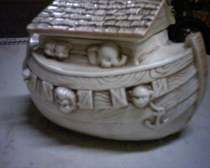 Noah's ark cookie jar
