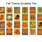 Fall theme scrabble tile size 4x6 digital collage sheet