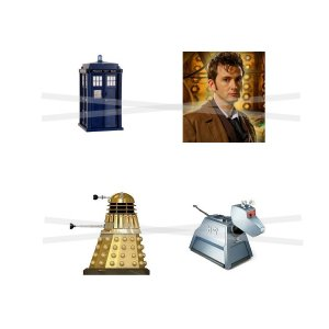 Dr. Who scrabble tile size 4x6 digital collage sheet