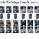 New Dr. Who scrabble tile size 4x6 digital collage sheet