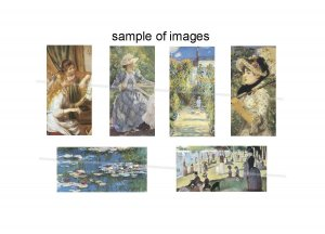 Impressionist Art domino size rectangles digital collage sheet
