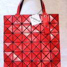 Japanese designer BAO BAO BAOBAO Issey Miyake Lucent Red Tote Shoulder Bag 100% Authentic with tag