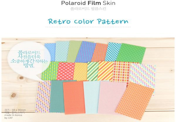 Fujifilm Instax Mini Polaroid 7s 8 25 50s 90 Film Skin Sticker Frame 20 pcs/pack Retro