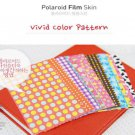 Fujifilm Instax Mini Polaroid 7s 8 25 50s 90 Film Skin Sticker Frame 20 pcs/pack Vivid