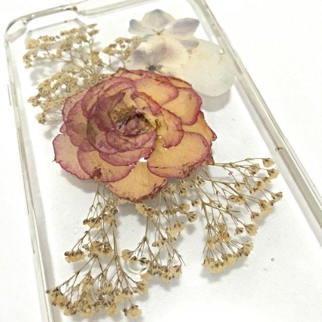 Handmade Dry Whole Flower Iphone cellphone case Unique