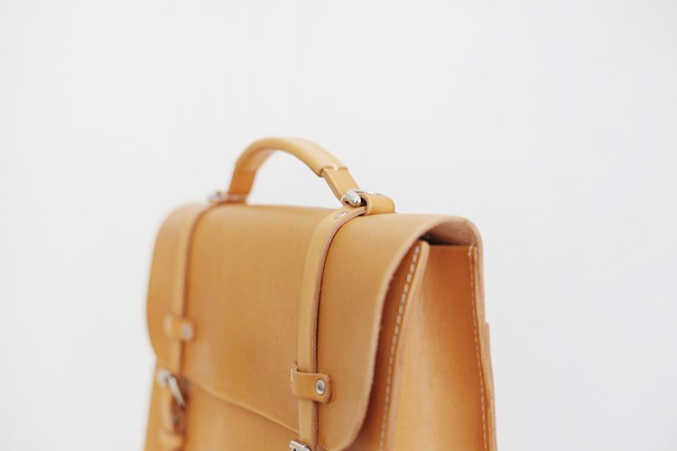 Handmade Man Leather Suitcase