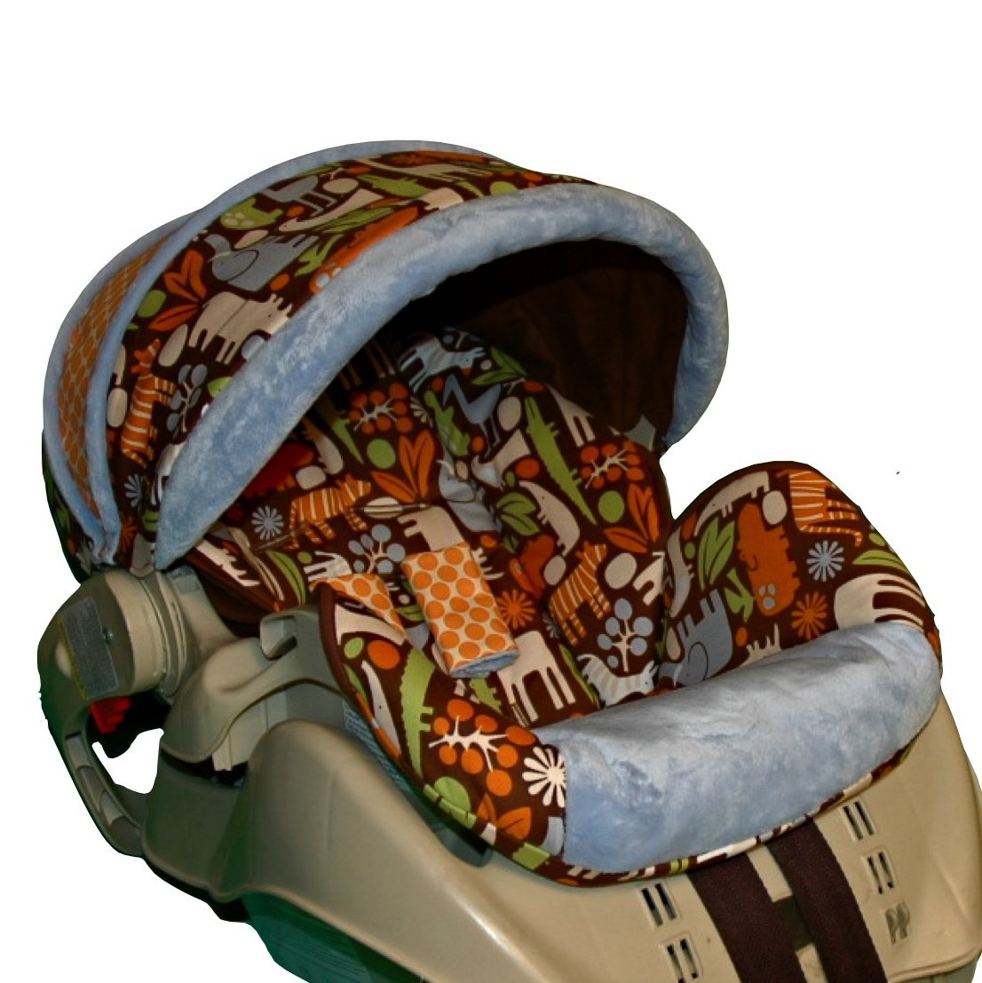 graco snugride custom replacement infant car seat cover brown zoo. Black Bedroom Furniture Sets. Home Design Ideas