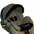 Custom Infant Car Seat Cover - Houndstooth - Includes Embroidery