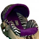 Custom Replacement Baby Car Seat Cover Graco Snugride 22- Purple Zebra-