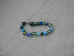 Seaglass colored bracelet