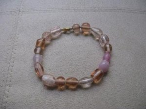 Pale Pink Sea Glass Bracelet