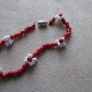 Red Daisy Chain Bracelet