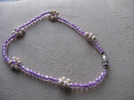 Lavender Flower Vine Anklet
