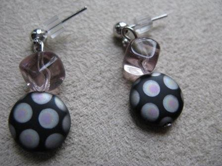 Funky Black/Lavender Earrings