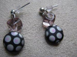 Funky Black/Lavender Earrings