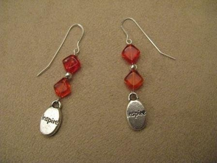 Orange Inspire Earrings