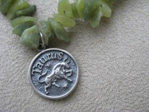 Jade Chip Taurus Necklace