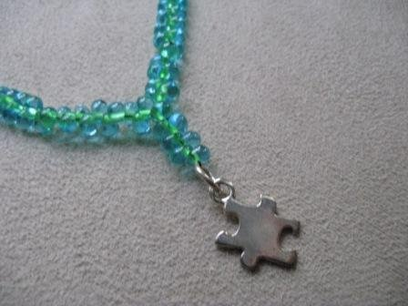 Puzzle Piece Glass Bead Necklace