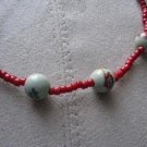 Red Asian Inspired Necklace