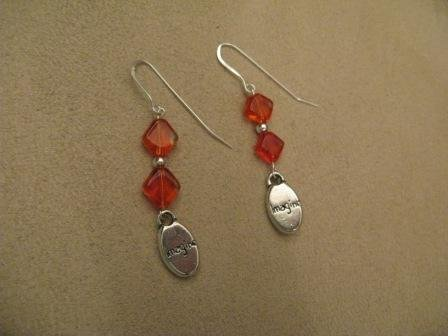 Orange Imagine Earrings