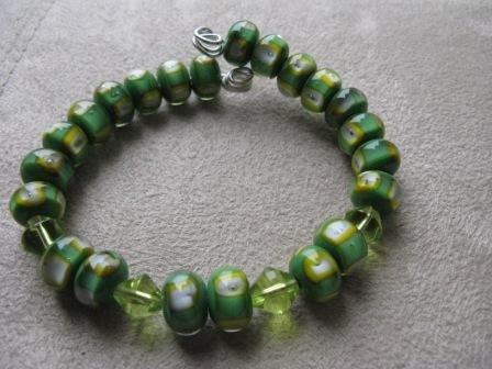 Funky Green Bead Bracelet