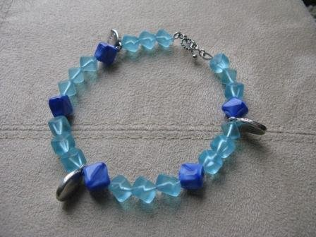 Live Laugh Love Blue Hues Bracelet