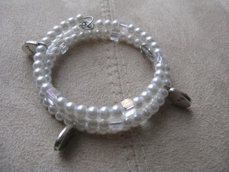 Trust, Believe, Love White Recovery Bracelet