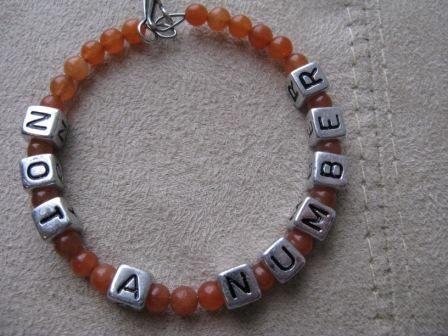 Not A Number Orange Recovery Bracelet