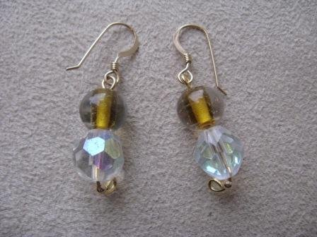 Cyrstal and Glass Bead Earrings