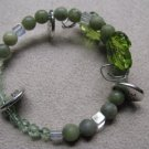 BE HERE NOW Real Jade & Green Bead Bracelet