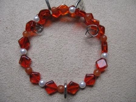BE HERE NOW Orange Wrap Bracelet