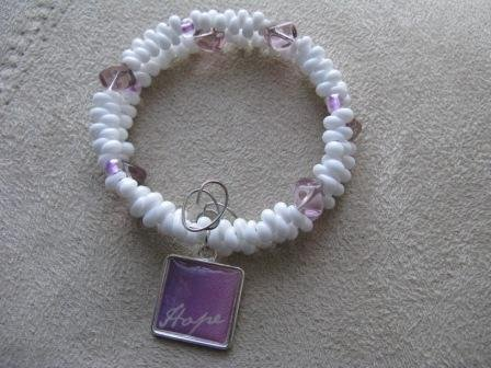 HOPE White & Lavender Recovery Bracelet