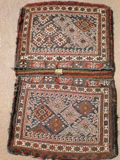 antique sumac flat weave saddlebag khorjin