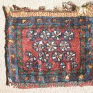 antique small pile weave bag with interesting design