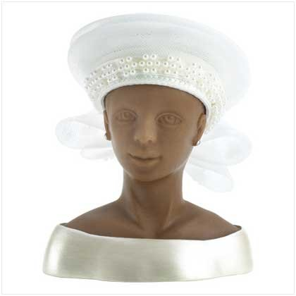 #13135 White Braid Rosebud Hat