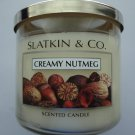 Bath & Body Works Slatkin & Co. CREAMY NUTMEG Scented Candle 14.5 oz/ 411 g