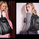 Victoria's Secret Fashion Show Fringe Leather Black Backpack Bag