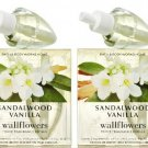 Set of 2 Bath & Body Works Sandalwood Vanilla Wallflower Refill Bulb 2-packs (4