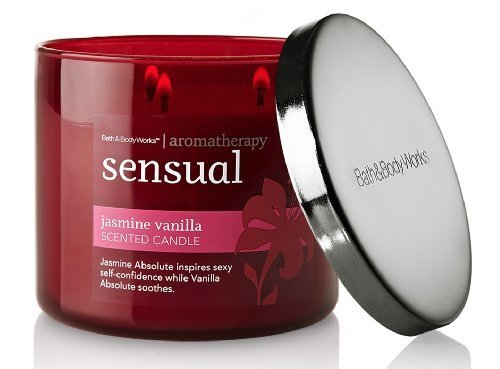 Bath and Body Works Aromatherapy 14.5 oz Sensual Jasmine Vanilla Candle