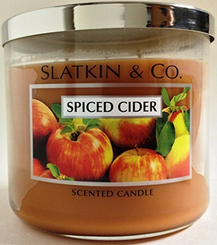 Bath & Body Works Slatkin & Co Spiced Cider Scented Candle 14.5 oz