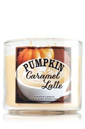 Bath & Body Works 3-wick Candle Pumpkin Caramel Latte (Pumpkin Cafe Collection)