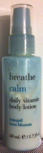 Breathe Calm Tranquil Lotus Blossom Daily Vitamin Body Lotion 1.7 Fl Oz