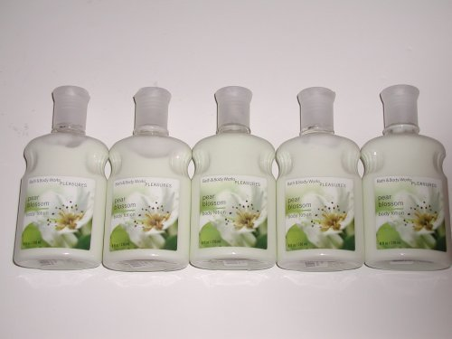 Bath & Body Works Pleasures Collection Pear Blossom Body Lotion 8 Oz - Lot of 5