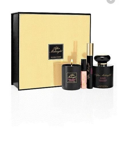 Victoria's Secret After Midnight Aphrodisiac Gift Set- Parfum,Candle,Oil,Lip Glo