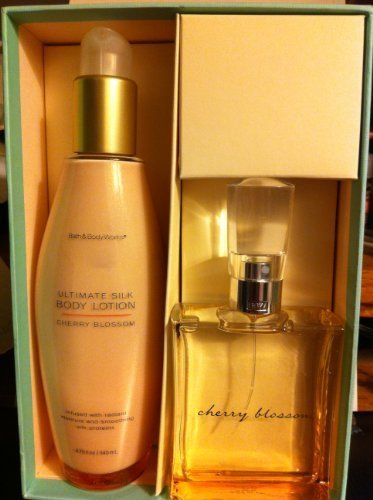 Bath & Body Works Cherry Blossom Ultimate Silk Gift Set Lotion & EDT