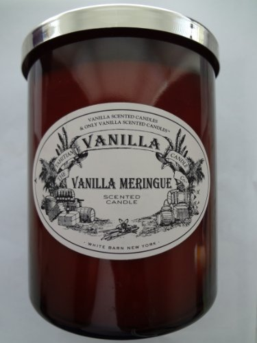 White Barn VANILLA MERINGUE Scented Candle, 22 fl oz/ 624 g (Giant Size)